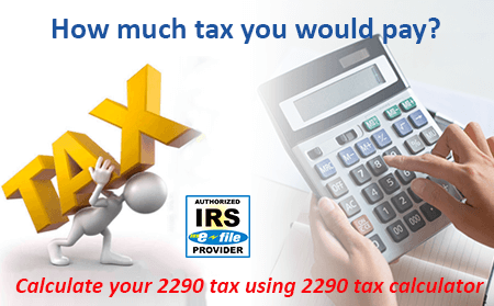 Form 2290 filing, IRS 2290 online - file 2290 electronically