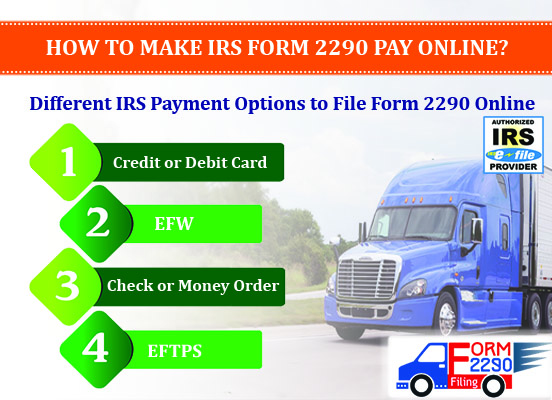Form 2290 Online Filing Payment Options